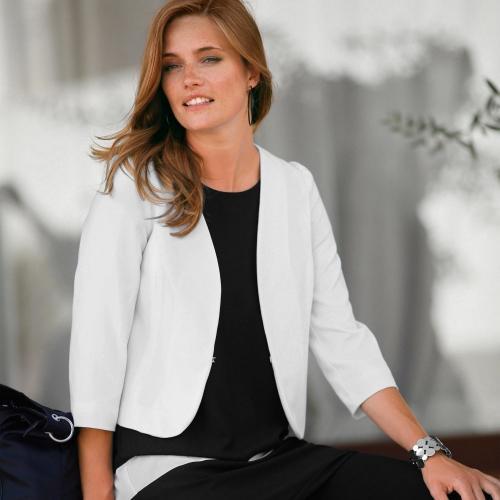 Blancheporte Bolérkové sako bílá