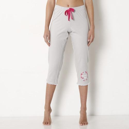 Blancheporte 3/4 pyžamové kalhoty se střapci šedá