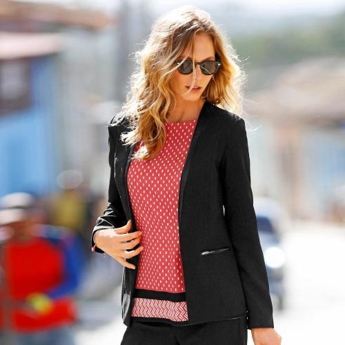 Blancheporte Strečové kostýmkové sako černá