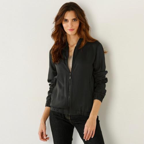 Blancheporte Vzdušná bunda na zip černá