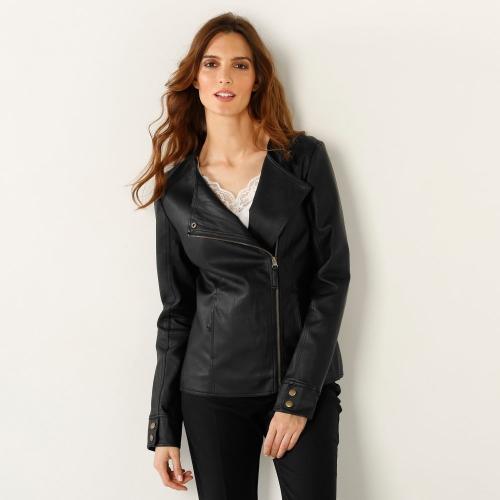 Blancheporte Koženková bunda černá