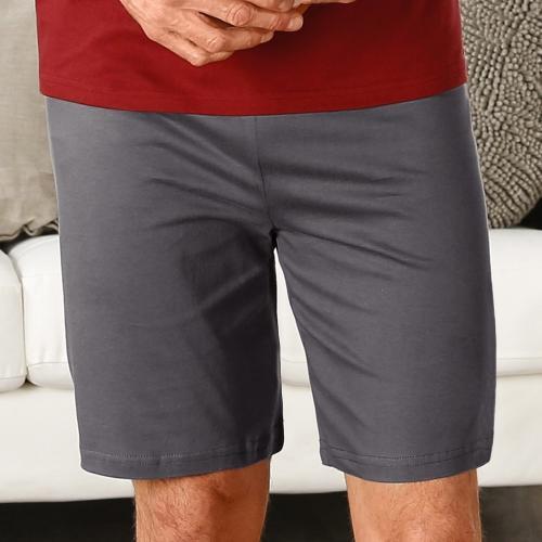 Blancheporte Jednobarevné pyžamové šortky antracitová