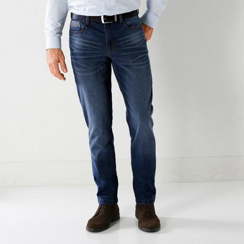 Blancheporte Pánské džíny s dvojitými kapsami sepraná modrá
