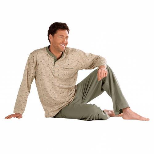 Blancheporte Pyžamo s geometrickými motivy béžová