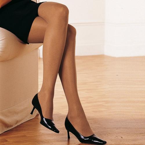 Blancheporte Punčochové kalhoty, 40 DEN, sada 2 ks béžová