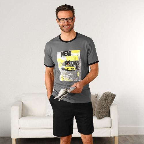 Blancheporte Pyžamo s krátkými rukávy a šortkami New York