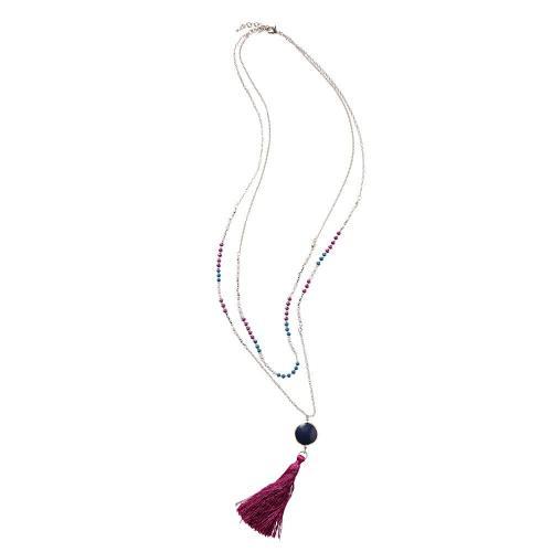 Blancheporte Dvojitý náhrdelník stříbřitá