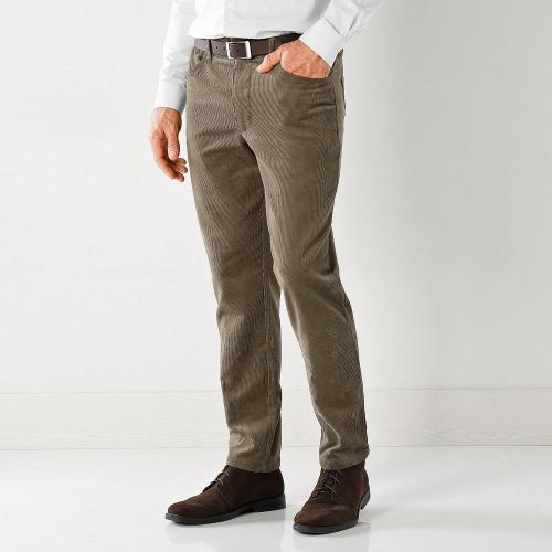 Blancheporte Twilové kalhoty rovného střihu kaštanová