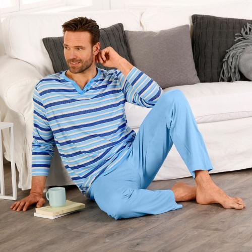 Blancheporte Pyžamo s proužky modrá