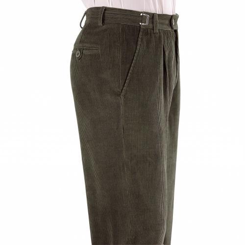 Blancheporte Manšestrové kalhoty, 2x1 sámek zelená