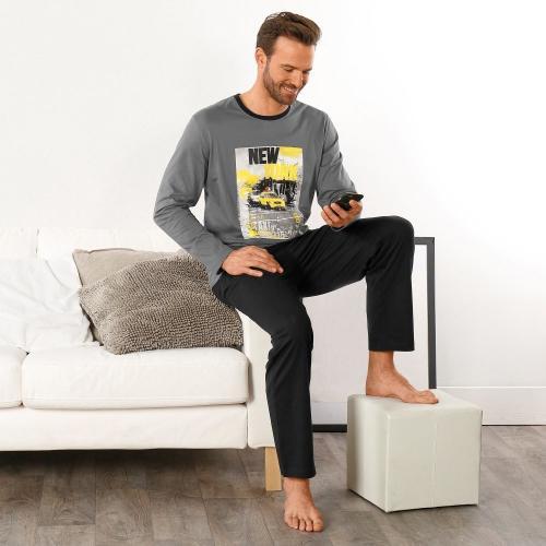 Blancheporte Pyžamo s dlouhými rukávy a kalhotami New York