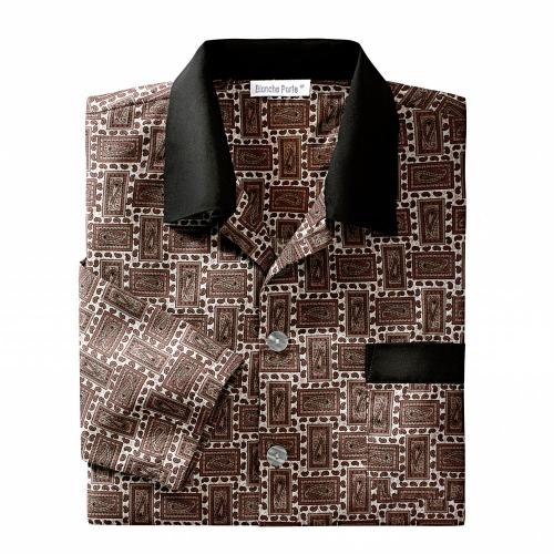 Blancheporte Pyžamo s potiskem, flanel 100% bavlna potisk béžová