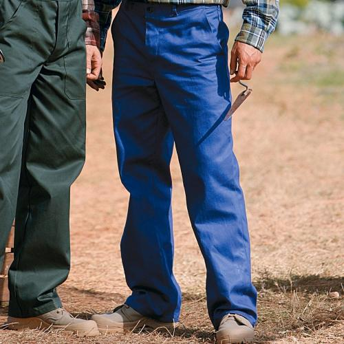 Blancheporte Pracovní kalhoty, 35 % bavlna, sada 2 ks modrá