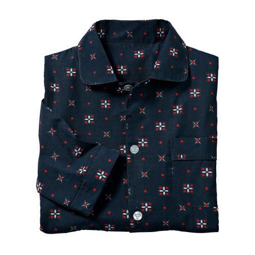 Blancheporte Klasické pyžamo s potiskem nám. modrá
