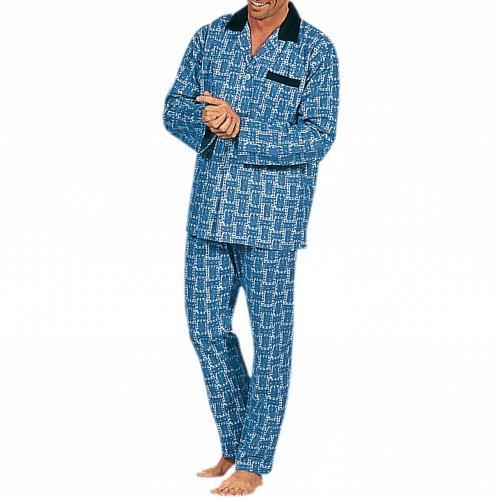 Blancheporte Pyžamo s potiskem, polycoton potisk modrá