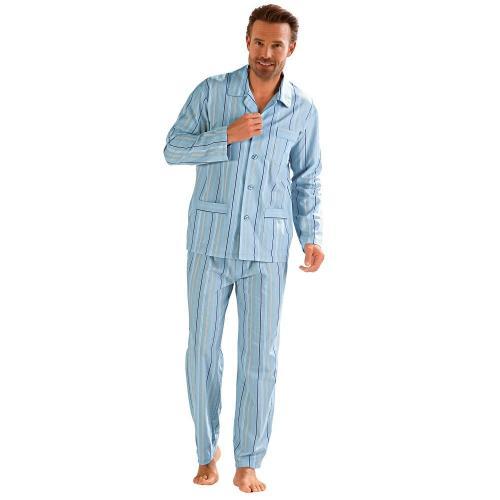Blancheporte Klasické pruhované pyžamo proužky modrá