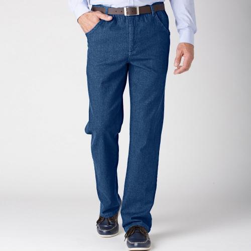Blancheporte Pohodlné džíny, menší postava modrá