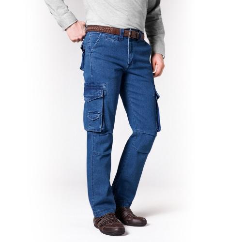 Blancheporte Kalhoty s kapsami modrá