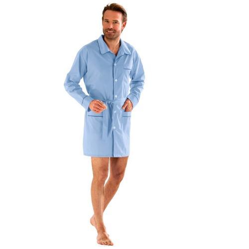Blancheporte Prodloužený pyžamový kabátek neb.modrá