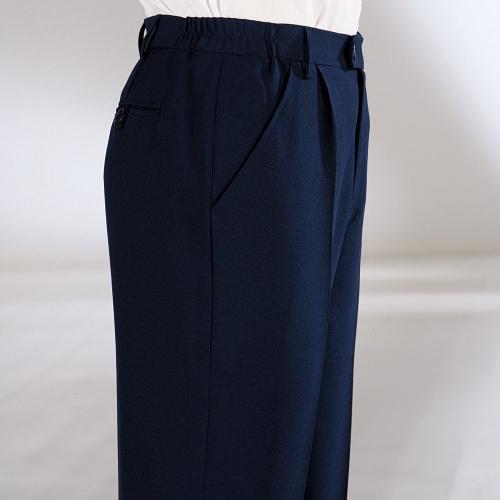 Blancheporte Kalhoty, 100% polyester, elastický pas nám. modrá