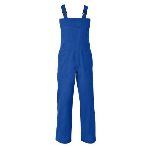 Blancheporte Pracovní kalhoty s laclem, 35% bavlna modrá