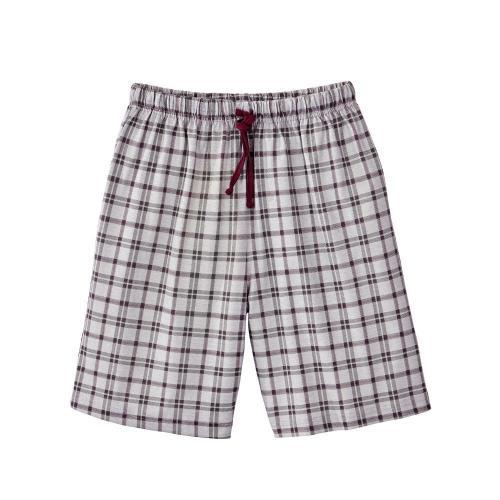Blancheporte Kostkované pyžamové šortky šedá/černý rybíz