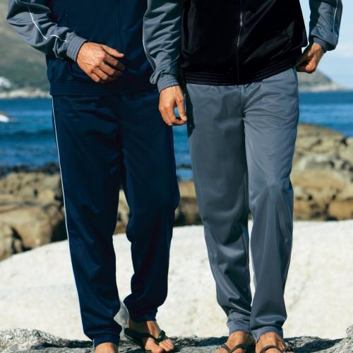 Blancheporte Sportovní kalhoty, sada 3 ks šedá+nám.modrá+černá