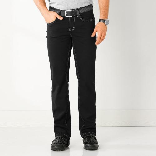 Blancheporte Kalhoty pro silné postavy, twill černá