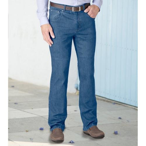 Blancheporte Speciální džíny pro větší bříško modrá
