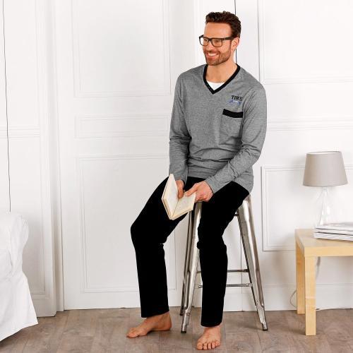 Blancheporte Pyžamo s dlouhými rukávy efekt 2 v 1