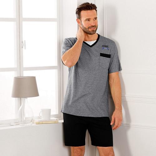 Blancheporte Pyžamo se šortkami a krátkým rukávem, efekt 2 v 1