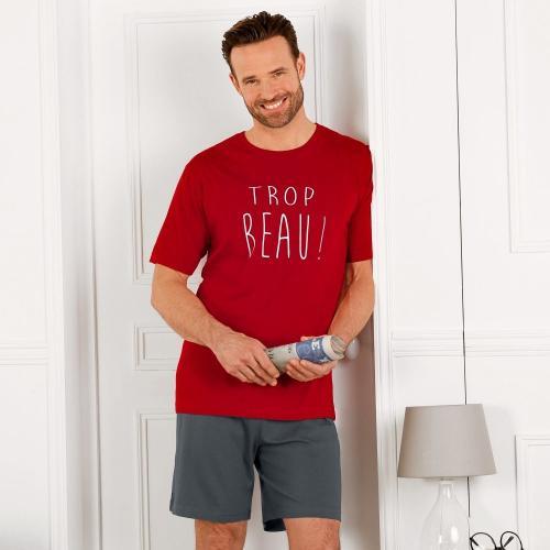 Blancheporte Pyžamo s krátkými rukávy i nohavicemi, s nápisem
