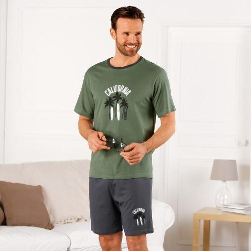 Blancheporte Pyžamo s šortkami a krátkými rukávy California