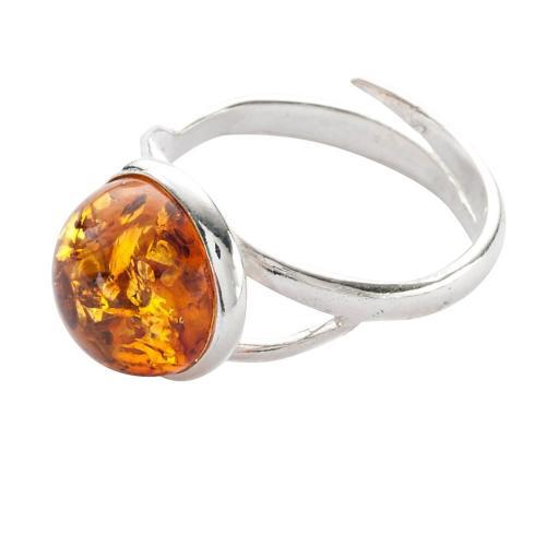 Blancheporte Nastavitelný prsten z jantaru a stříbra