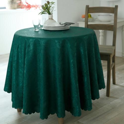 Blancheporte Damaškový ubrus lahvově zelená