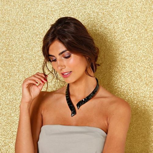 Blancheporte Pevný náhrdelník černá