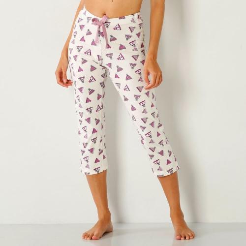 Blancheporte 3/4 pyžamové kalhoty s potiskem čepiček potisk slonová kost