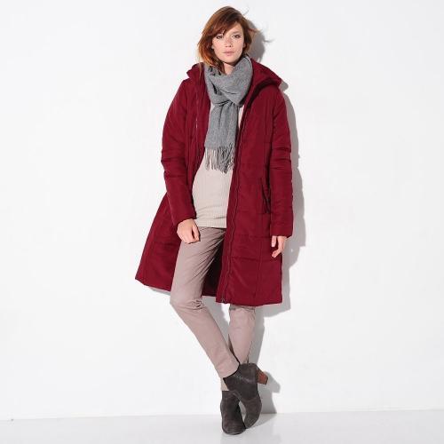 Blancheporte Dlouhá prošívaná bunda, délka cca 95 cm červená granátová