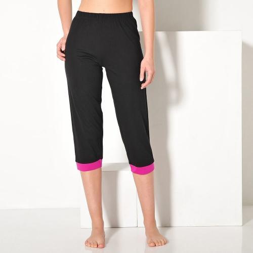 Blancheporte 3/4 pyžamové kalhoty, jednobarevné nebo s potiskem černá