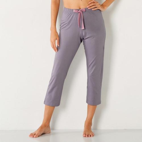 Blancheporte 3/4 jednobarevné pyžamové kalhoty jednobarevná šedá lila