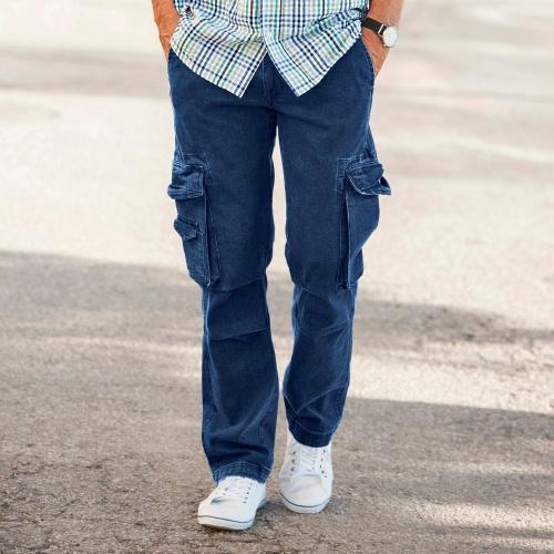 Blancheporte Kalhoty s kapsami denim modrá