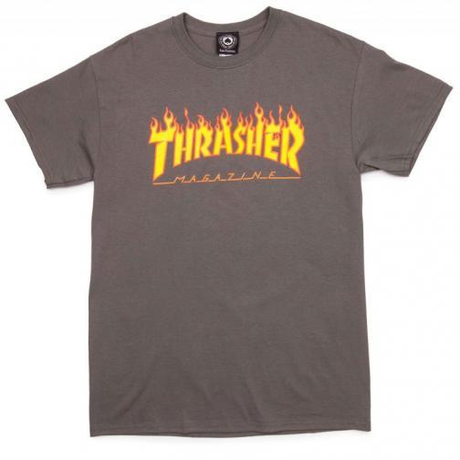 Thrasher flame - šedá