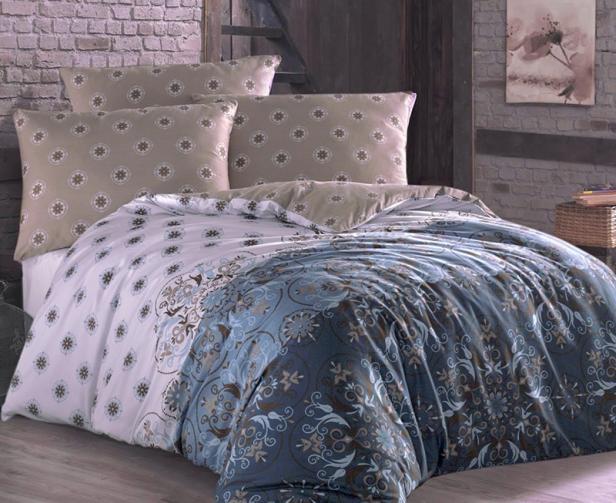 Povlečení Alberica modré Jednolůžko - standard, přikrývka: 1ks 140x200 cm, polštář: 1ks 90x70 cm bavlna