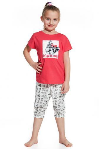 Dívčí pyžamko Let´s go for walk 110/116 růžová