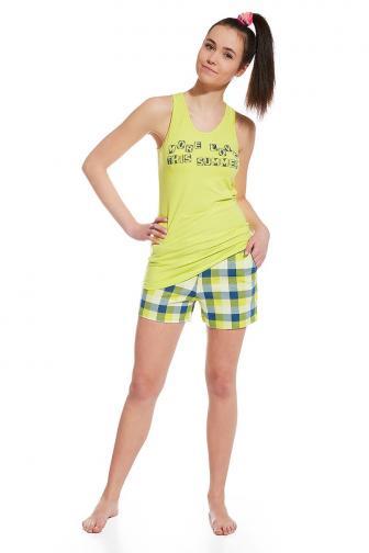 Dívčí pyžamo More Love L zelená