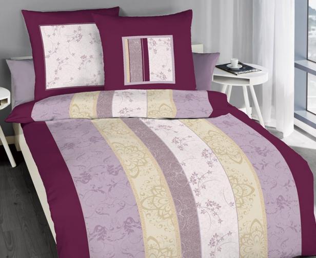 Povlečení Nobles fialové Jednolůžko - standard, přikrývka: 1ks 140x200 cm, polštář: 1ks 90x70 cm bavlna
