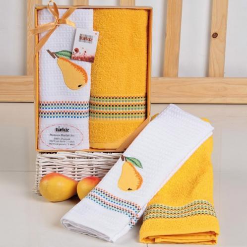 Dárková sada ručníku a utěrky Hruška Utěrka a ručník: 50x70 cm Bavlna
