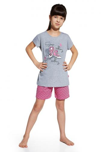 Dívčí pyžamo Shoes 134/140  šedorůžová