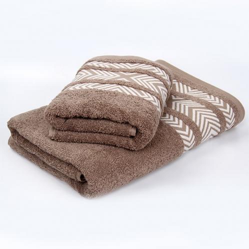 Bambusový ručník Tara - hnědý 50x90 cm, 440 g/m2 Ručník