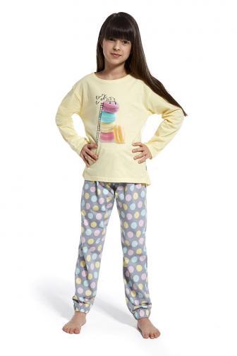 Dívčí pyžamo Time to rest 98/104  šedožlutá